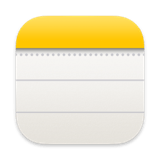 Mac app icon for apple notes