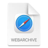 File icon for webarchive